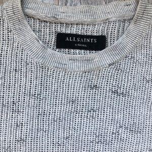 All Saints Sweaters - ALL SAINTS LIGHT GREY SWEATER XTRA SMALL